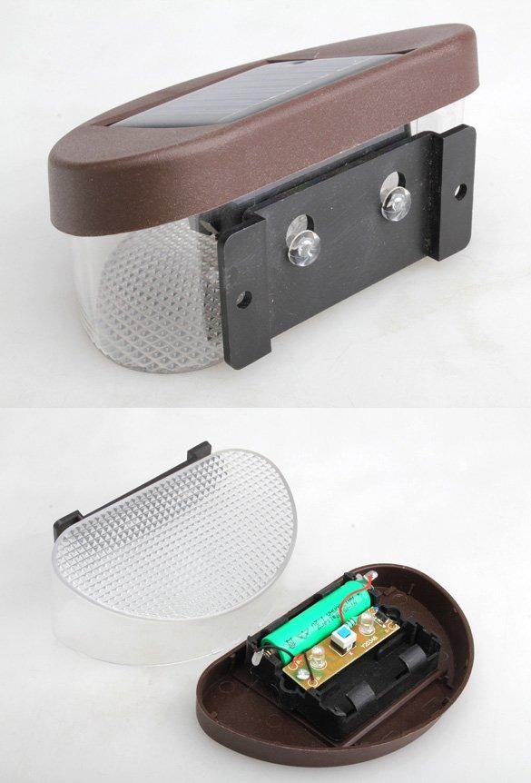 Светодиодный светильник (2 LED), настенный на солнечных батареях