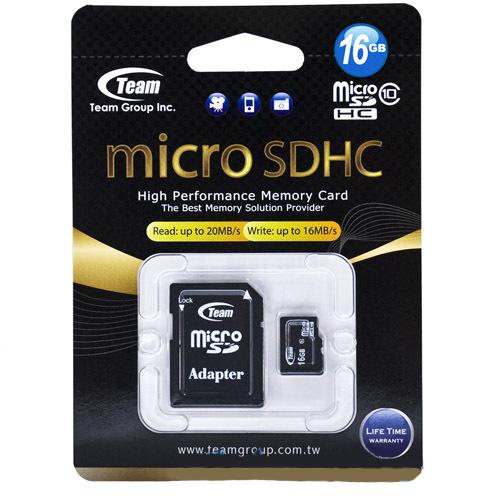 Карта памяти MicroSDHC 16 Gb 10 class + картридер